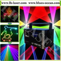 1W RGB Full color Carton Stage laser Light DMX512,SD ,ILDA Sound Active, AUTO