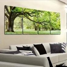 2015 nuovo 4 pezzo astratto no frame tela stampata art albero tela foto decorazione della casa moderna olio su tela stampe(China (Mainland))