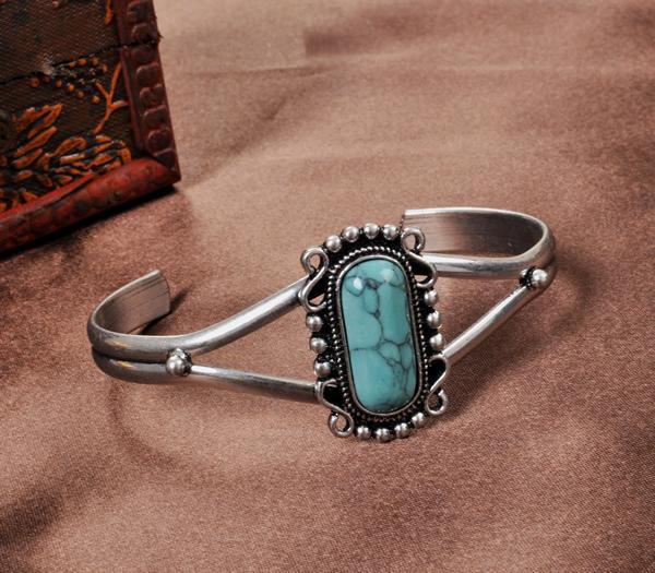Twilight Bella bracelet Vintage natural turquoise bracelet size adjustable(China (Mainland))