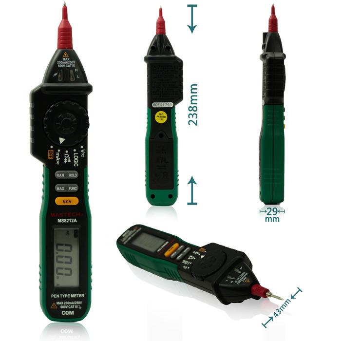Multimetro Digitale a Penna MS8212A - Mastech - I-CS-MS8212