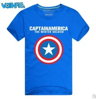 Free shipping!voimale new 2014 fashion cotton summer new Avengers Captain America 2 shield cotton short-sleeved T-shirt tide