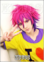 FREE SHIPPING Anime No game No life Brother Sora Short Rose Red Full Lace Cosplay Wig Costume Heat Resistant + Cap