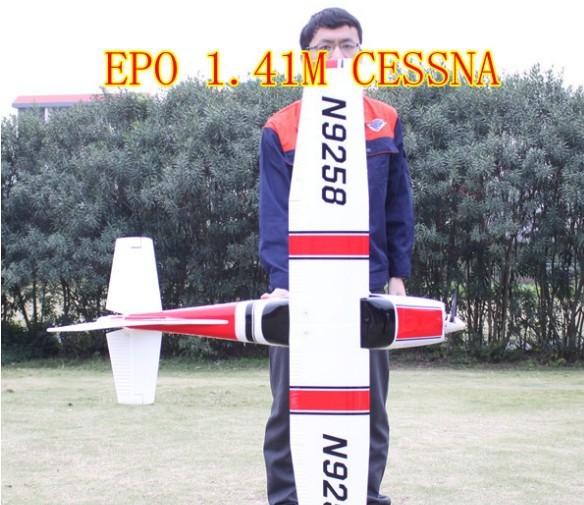 4CH 2.4G EPO 1.41m BIG Cessna 182ST RTF electric rc plane model(China (Mainland))