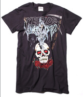Hot new  kanye west yeezus tour roses skull mens short sleeve cotton t shirt  free shipping