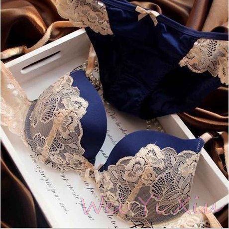 new 2014 VS Bra and Panty Set lace lingerie push up bra fashion style wholesale brassiere,sexy bra set hot blue pink purple(China (Mainland))