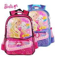 Barbie cartoon/childre/kids school bag books bag  shoulder backpack knapsack/rucksuck  for girls grade/class 1-3