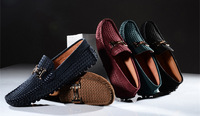 EU 38 - 44 Genuine Leather Buckle Slip On Comfy penny  driving Loafer mens boat shoes