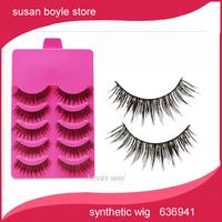 free shipping New 5 Pair Thick Long False Eyelashes Eyelash Eye Lashes Voluminous Makeup drop ship