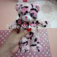 Free shipping Original Habita Toy Pink Leopard Print Heart Cat Plush Toys Stuffed Animals Plush Cat Soft Children Toys for Girls