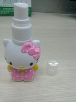 Free shipping12pcs/lot  50ml hello kitty plastic bottle,liquid cream bottle,hello kitty cosmetic packaging, perfume containers