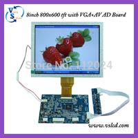 VGA+CVBS Driver Board with 8inch tft lcd 800x600 pixels