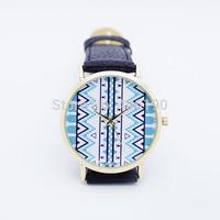 50pcs Luxury Quartz Watch for Women Ladies Leather PU band+Big Clear Dial Plate 3 colors Factory Sale