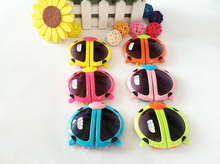 2015 Time limited Special Offer Freeshipping Children Fashion Cartoon Style Folding Baby Beetle Kids Sunglasses Child