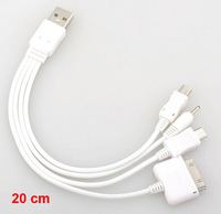 USB Universal Mobile Cellphone Charger 4 in 1 Multi mobile charging Cable efficient charging free shipping