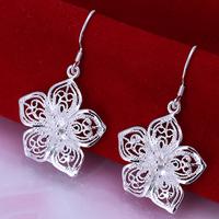 free shipping new fashion women Not allergic 925 sterling silver earrings pendants European and American earrings jewelry