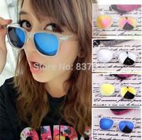 Brand  Men coating sunglass oculos original de sol feminino frogskin Eyewear Mirrored polarized sun glass cycling lunettes women
