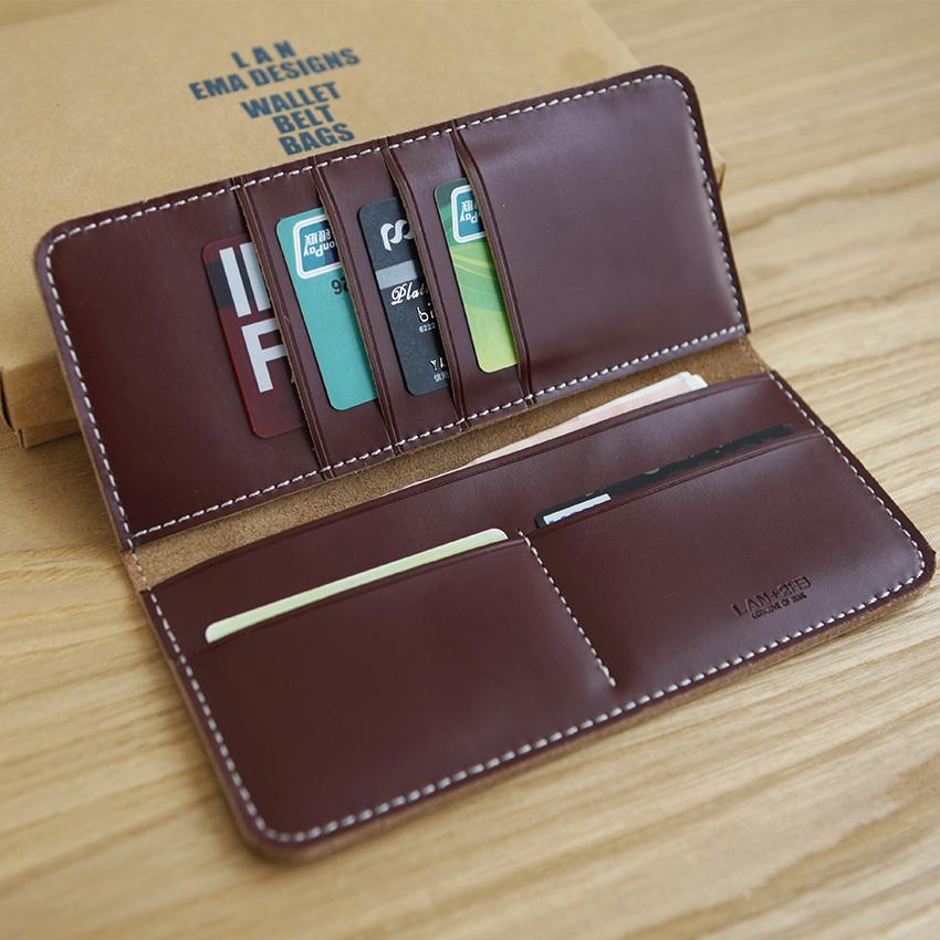 Long Leather Wallet For Men Men's Leather Long Wallet