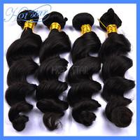 6A Unprocessed Brazilian virgin hair loose wave human hair bundle natural black color 3pcs 4pcs lot mocha new queen product
