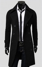 holiday sell new arrival man overcoat trench double-breasted X-Long jaqueta masculina wool coat men winter dress long coat(China (Mainland))