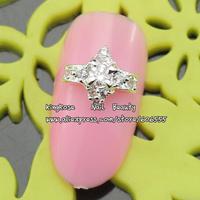 sh480 new zircon alloy nail art decorations wholesale 20pcs/lot  metal nail stickers nail rhinestone nail supplies free shipping