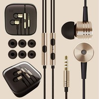 Top Quality 100% New XIAOMI Piston Earphone Headphone Headset Silver Gold with Mic for MI2 MI2S MI2A Samsung HTC Free Shipping
