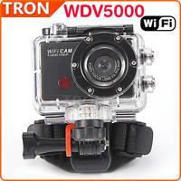 WDV5000 Sports DV HD Camera Action Camera mini camcorders 5.0MP CMOS 4X Digital Zoom WiFi Outdoor Waterproof Anti Shake