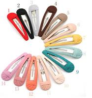 2013 new  Fashion Hair pin Candy Color Big BB Hair Clip  Handmade Cloth Wrapped Edge Clip 24 pcs/lot free shipping