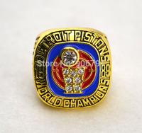 New arrival Free shipping replica 18k gold plated 1989 Detroit Pistons Basketball World Championship Rings-Dumars