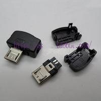 Left Angle Micro Usb Plug Connector Set 3-piece