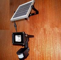 Outdoor IP65 Waterproof 10W PIR Motion Sensor LED Spot Light Solar Powered Panel Garden Path Wall Lamp street lighting Luminaria