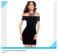 new women's boat neck short-sleeved dress sexy nightclub dance dress models in Europe and America