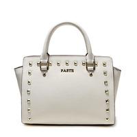 2014 fashion rivet bag women shoulder messenger bags designer brand handbag OL ladies tote women leather handbags