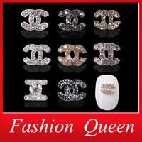 3d Alloy Rhinestones Nail Art Decoration,20pcs/lot Mix 8colors Brand Designed Metal Glitter Nail Jewelry Supplies Accessories