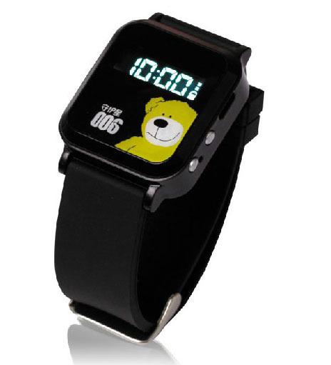 "Heacent 006 Mini 0.8"" Screen GPS GSM Wrist Watch Phone for Kids - Black(China (Mainland))"