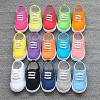 Hot sale Shoes inner length 13-16.8cm Children Shoes Kids Sneakers Boys sports shoes baby girls candy shoes 13 colors