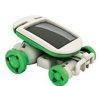 New DIY 6 in 1 Solar Educational Kit Toy Boat Fan Car Robot Power Moving Dog Novelty Toys HG-03371