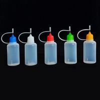 Color caps 100pcs 30ml  Needle Tip Empty Plastic Squeezable Dropper Bottles Eye Liquid E-juice Dropper LDPE