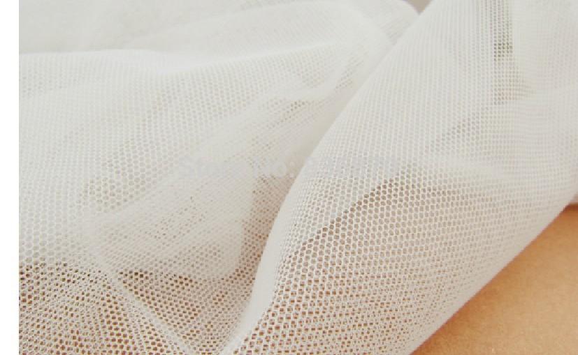 10yard 160cm width ivory soft mesh fabric net hole fabric for wedding,cloth tent,skirt,home decoration,veil,curtain ,tent DIY(China (Mainland))