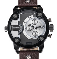 Free shipping, 2014 hot new fashion men's quartz watch D100K sports brand watches, leather band   military watches