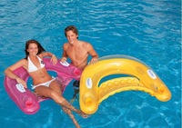 Intex inflatable floating pool chair handle floating row chair inflatable bed  lounge suitable for less than 100 KG people