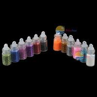 PriceStar 12 Color Glitter Decor Nail Art Powder Dust Bottle Set Worldwide free shipping