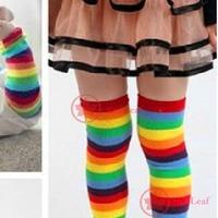 RedLeaf Pair Baby Child Toddler Leg Warmer Cover Rainbow Socks Worldwide free shipping