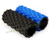 2014 Hot Foam Yoga Roller Yoga Block Cure Trigger Point Relief Muscular Pain 33.5CM Lenth Black/Blue Color OT10