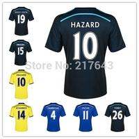 Chelsea Kit 14/15 3rd third Black Jerseys A.Cole David Luiz Ramires Drogba Torres Oscar Hazard Ba Matic Willian Diego Costa