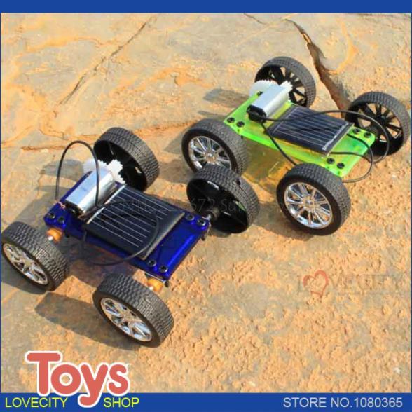 DIY solar toy car, assemble solar vehicle yourself, mini solar energy powdered toy racer, child kid Education kit toys(China (Mainland))