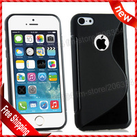 """For iphone 6 4.7 S-type case, New S Line TPU With hole cover case For apple iphone 6 4.7""""By DHL Free shipping"""