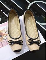 {D&T}2014 New Ballet Flats Shoes Women,Sweet Women Casual Flats ,Square Toe&PU,Plus Size 35-42,Wholesale Free Shipping