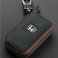 Genuine Leather Remote Control Bag for honda city civic crv fit accord key Bag Key Case