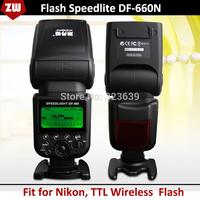 2014 Brand New DF660N TTL Wireless Flash Speedlight/Speedlite for Nikon D300S D600 D610 D800 D800E D3100 D3200 D5200 D7000 D7100