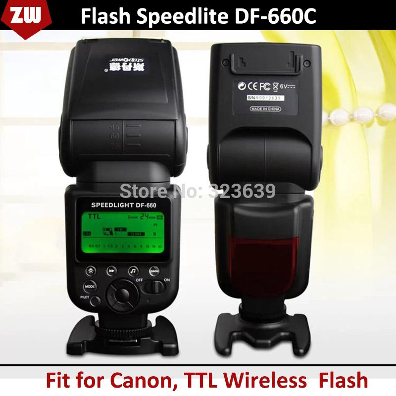 Df660c ttl wireless flash speedlight/Speedlite für Canon dslr-kamera wie 5d3 6d 60d 7d 70d 600d 700d 100d frei schiff